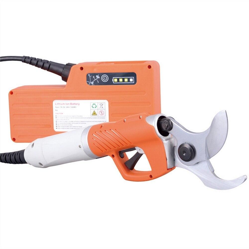 Sécateur électrique de cisailles électriques de 450 W pour les ciseaux de jardin d'arbre fruitier batterie au Lithium de 36 V 4400 mah verger électrique de cisaillement d'élagage