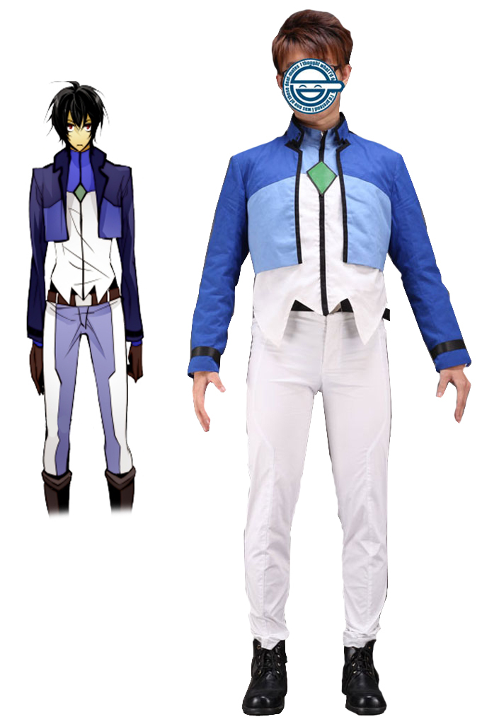 Free Shipping Gundam00 Celestial Being Setsuna.F.Seiei Gundam Meisters Uniform Anime Cosplay Costume