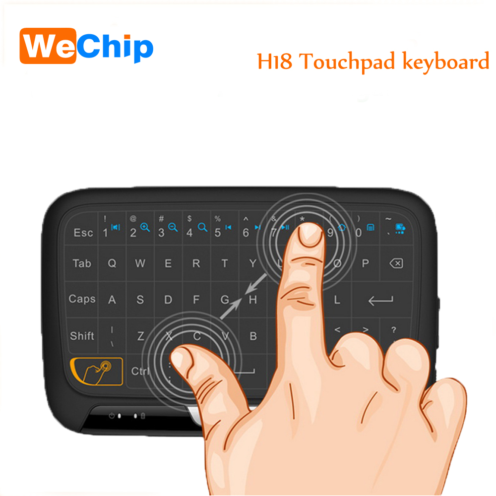 Wechip Mini H18 Wireless Keyboard 2.4 G Portable Keyboard With Touchpad Mouse for Windows Android Smart TV Linux Windows Mac image