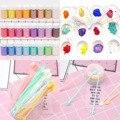 24 цвета  краситель  пигменты  слюда  жемчужный порошок с 30 шт.  мини-ложка для самостоятельного дизайна ногтей  проекты для создания слизи  ва...
