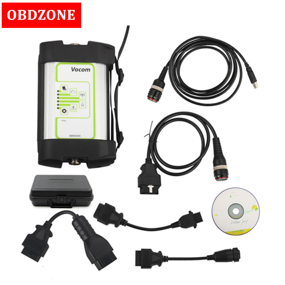 Truck Diagnose for Volvo 88890300 Vocom Interface for Volvo Renault UD Mack with Round Interface