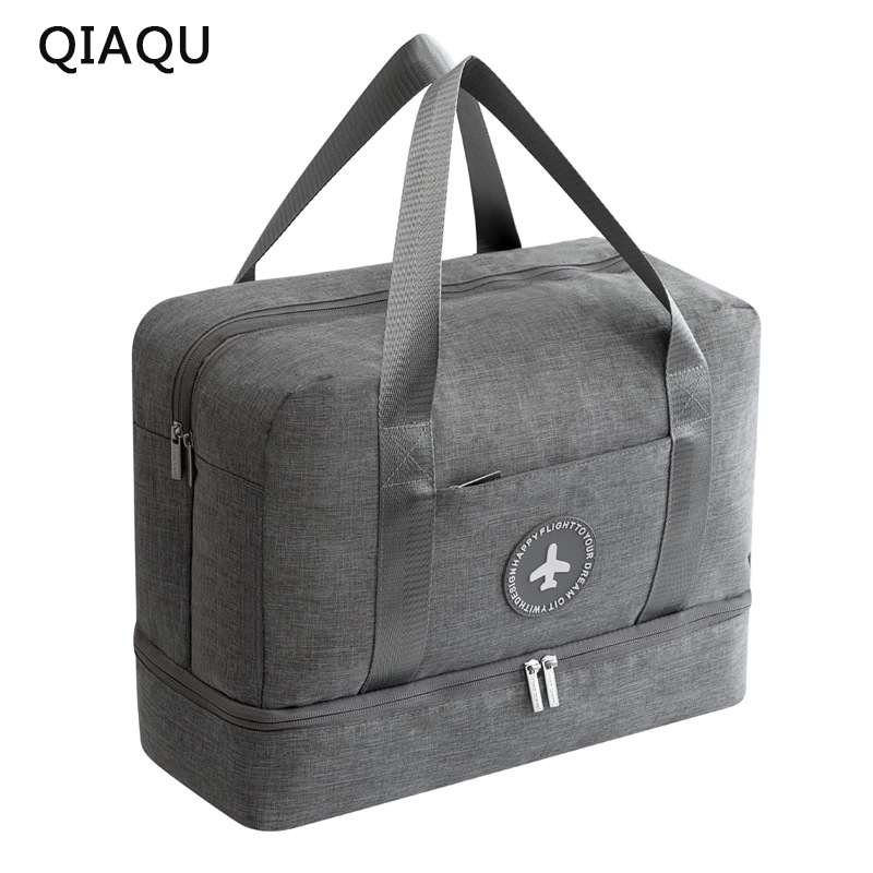 QIAQU 2018 Dry and wet Travel Bag Travel Bags Hand Luggage for Men & Women Fashion Travel Duffle Bags Large bag