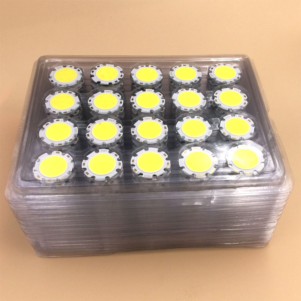 10PCS DC36-40V 28mm Rounded 12W LED COB Chip Warm Natural Cold White Lighting Source For Down Lights Spot Lamp LED Bulbs DIY