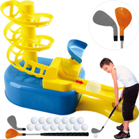 Parent child Golf Play Trainer Pitching Service Machine Robot Gift Ball Sender Student Teaching Tee Green Putting Mini golf Club