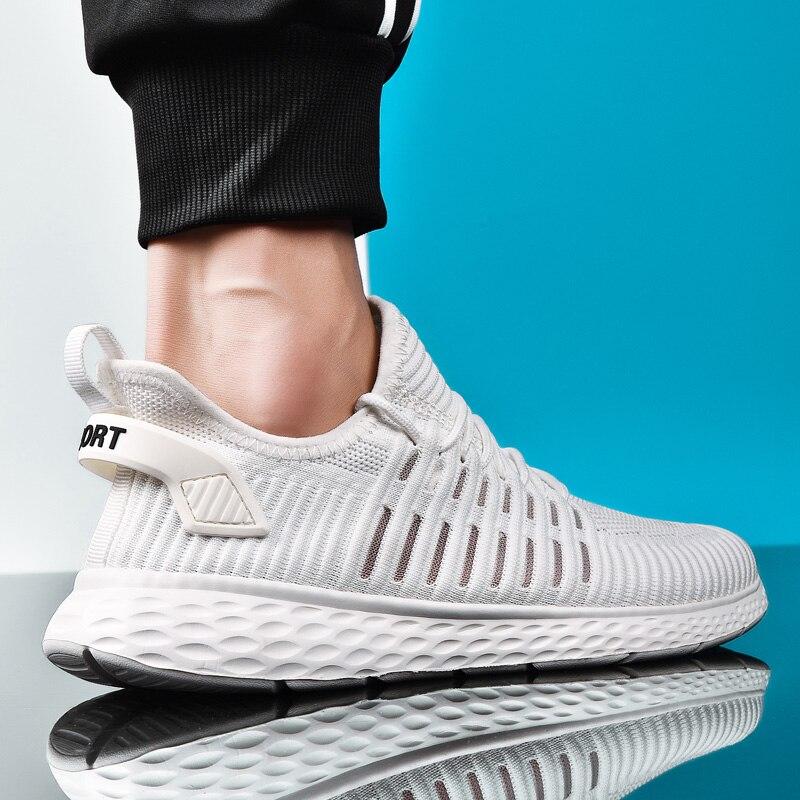 Männer Turnschuhe Atmungsaktive Air Mesh Outdoor Sport Schuhe Frühling Herbst Paar Kissen Wohnungen Training Laufschuhe Zapatos De Hombre
