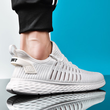 Мужские дышащие кроссовки из сетчатого материала; уличная спортивная обувь; сезон весна-осень; пара подушек на плоской подошве; тренировочные кроссовки; Zapatos De Hombre