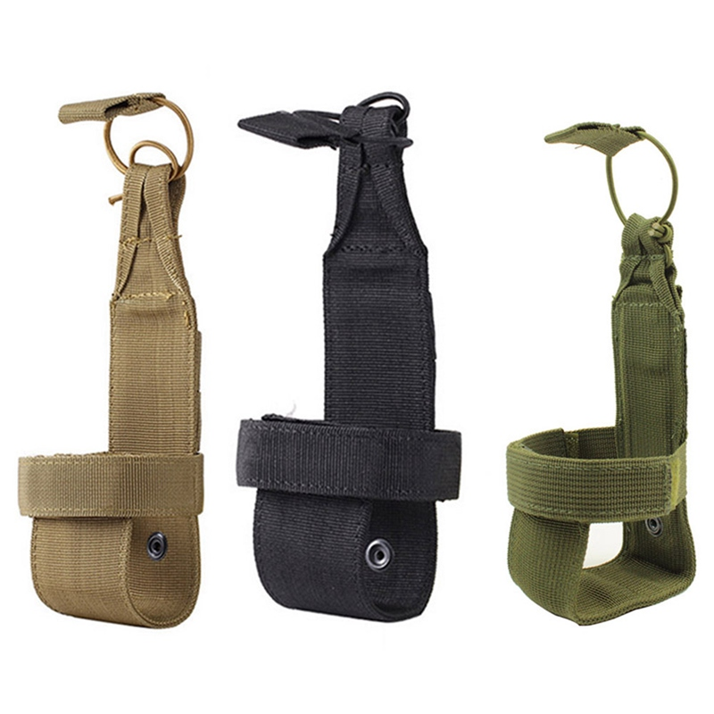Outdoor Camping Hiking Water Bottle Holder Clip Tactical Carabiner Belt Buckle