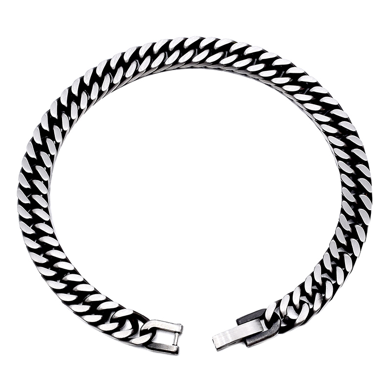 GOKADIMA 18 New Style Antique Finished Stainless Steel Chain Bracelet Men Jewelry Party Christmas Gift 11