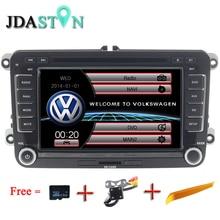 JDASTON 2 DIN 7 дюймов Автомобильный DVD gps радио для Volkswagen VW Skoda Passat B6 Поло Гольф 4 5 Touran sharan Jetta Caddy T5 Tiguan Бора