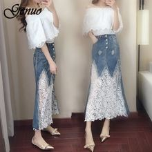 Vestido Long Dress Denim 2019 Women Summer Plus Size Loose Strap Jeans Dresses Sundress Denim Overall Dress Female 2pcs denim dress 2019 summer slim casual strap jeans dress women preppy suspender denim sundress denim overall dress