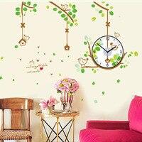 2017 Plant Home Decorations Wall Clock Big Clock Modern Design Large Size Wall Clocks Diy Wall