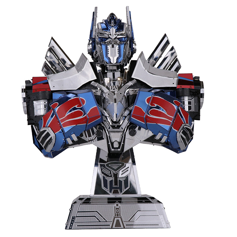 HowPlay 3D metal model assembling toy movie animation autobot leader Optimus Prime and Megatron model blocks toy Model Building компрессор optimus prime 65 1 2 20mm