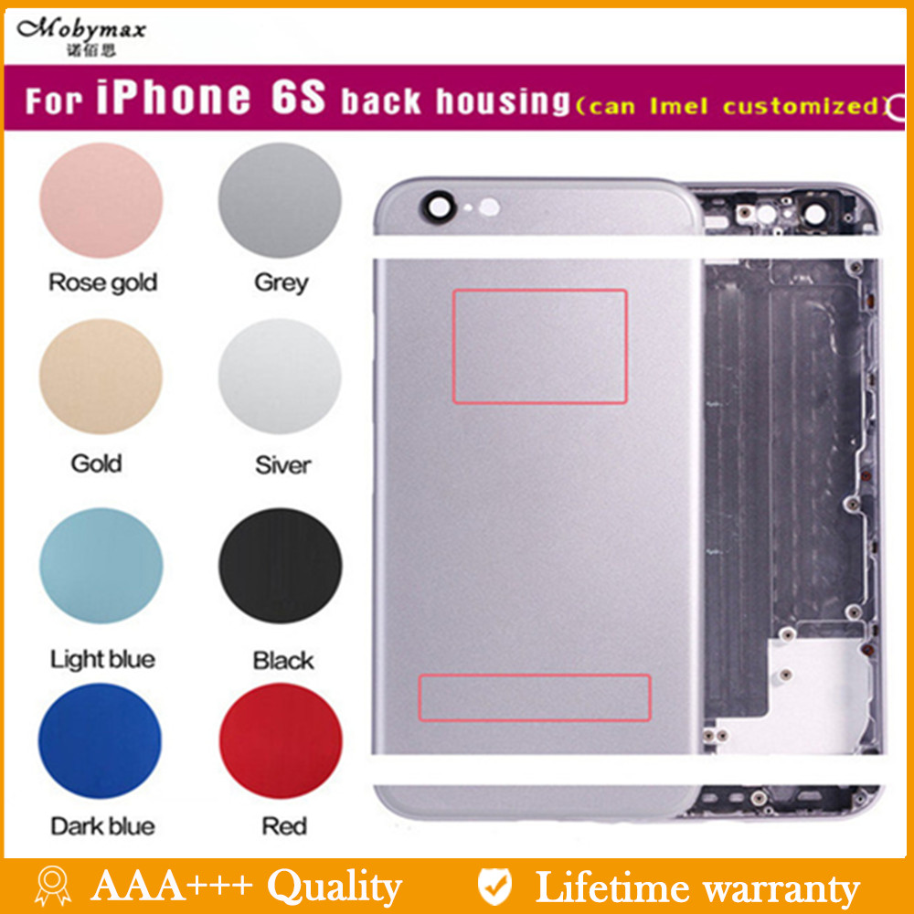Battery-Cover Back-Housing IMEI iPhone 6s Red-Chassis Sticker--Tool for Black Buttons