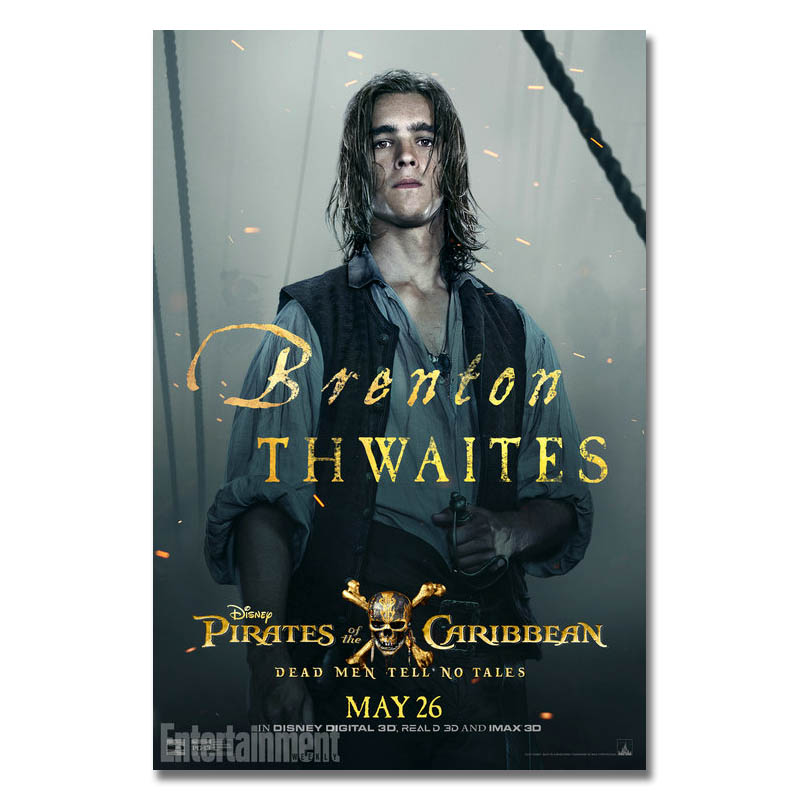2017Pirates Of The Caribbean Brenton Thwaites Dead Men Tell Art Silk Or Canvas Poster 13x20 32x48inch For Room Decor-01