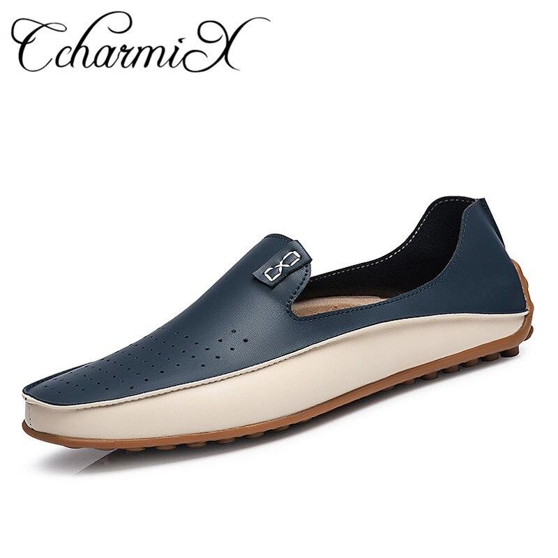 Zapatos casuales de verano de marca mocasines de hombre mocasines de cuero genuino zapatos de conducción de alta calidad planos para hombre de talla grande