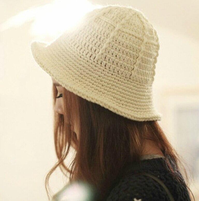 BomHCS Winter All matche Warm Crimping Fisherman Caps Bucket Hat 100 Handmade Women Beanie Hat Cap