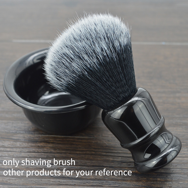 Dscosmetic 24mm Man's Shaving Brush Wiht Black Handle Synthetic Hair Tuxedo Knot Shave Brush