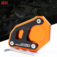 Motorbike Accessories Aluminum For KTM 1290 Adv Motorcycle CNC Kickstand Side Stand Extension Plate Pad For