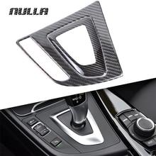 NULLA карбоновая рукоятка механизма переключения передач автомобиля панель отделочная Коробка Чехол для пульта украшения для BMW 3 серии F30 F31 F34 GT 320i 316i 318i