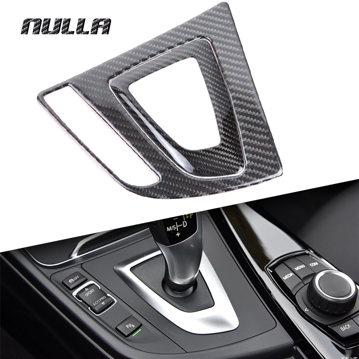 NULLA Carbon Fiber Car Gear Shifter Knob Panel Trim Box Control Cover Decoration for BMW 3 Series F30 F31 F34 GT 320i 316i 318i car styling rear seat air conditioning vents decoration frame cover trim stickers accessories for bmw f30 3 series gt 320i 328i