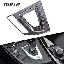 NULLA углеродного волокна автомобилей Шестерни ручка переключения Панель отсекания чехол для пульта украшения для BMW 3 серии F30 F31 F34 GT 320i 316i 318i
