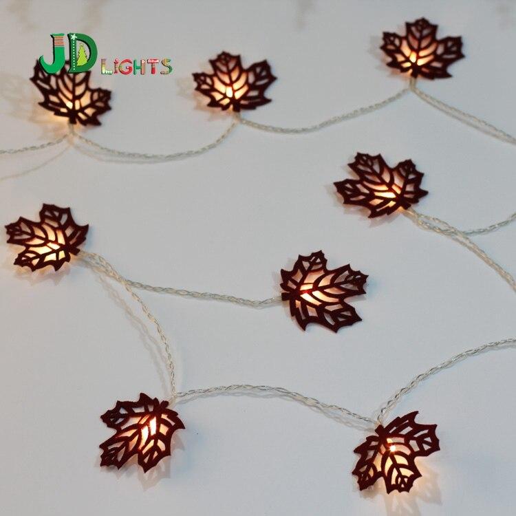 Maple Garland String Lights : Popular Autumn Leaf Lights-Buy Cheap Autumn Leaf Lights lots from China Autumn Leaf Lights ...