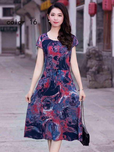 Runway 2018 Women clothing vestidos casual vintage floral print dress loose  vestido plus size female maxi summer dresses brazil 98.8 ₪ 1de27efadd6a