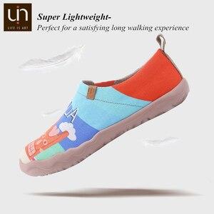 Image 3 - UIN Sandy Strand Design Gemalt Männer Casual Schuhe Atmungsaktiv Slip on Sneakers Trendy Reise Wohnungen Männlichen Faulenzer