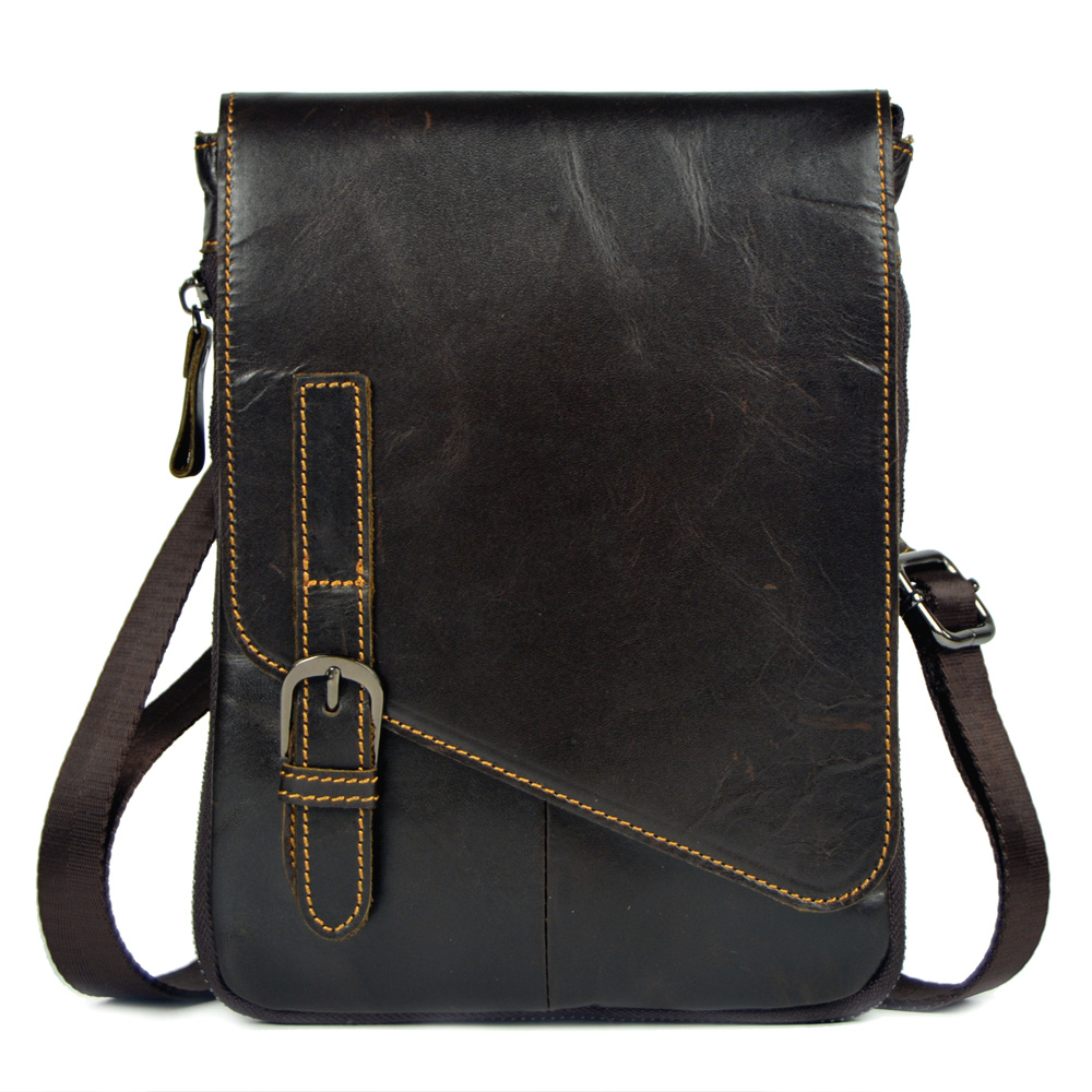 Genuine Leather Small Messenger Bags for Men Crossbody Bag Cow leather Shoulder Bags Vintage Small square Bag IPAD Handbag 2018 motorcycle bags full grain cow leather shoulder bags men messenger bag retro vintage crossbody bags