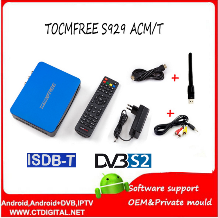 цена на TOCOMFREE S929 ACM/T H.265 With WiFi Satellite Receiver DVB-S2 with ISDBT IKS SKS FREE Support power vu S929 ACM