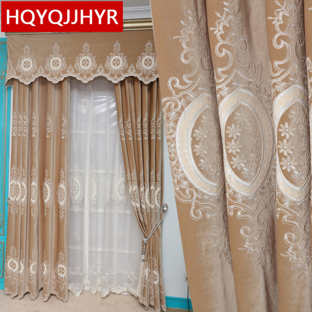 Charmant Europe And United States Top Villa Blackout Velvet Curtains For Living Room  Windows High End