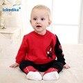 Conjunto de Roupas de Outono 2017 de Moda de Nova Dos Desenhos Animados das crianças Do Homem Aranha de Algodão Do Bebê Meninos Roupas 2 pcs T-shirt Calças T2550