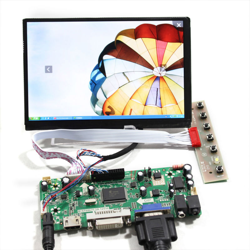 HDMI+VGA+DVI Lcd controller Board+7inch 1280*800 N070ICG-LD1/LD4 IPS LCD Screen for Raspberry pi hdmi vga 2av lcd controller board with 7inch n070icg ld1 39pin reversal1280x800 ips touch lcd