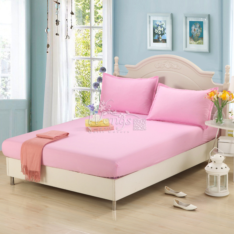 fitted sheet solid color bed sheets single queen king size multiple colors pink green blue