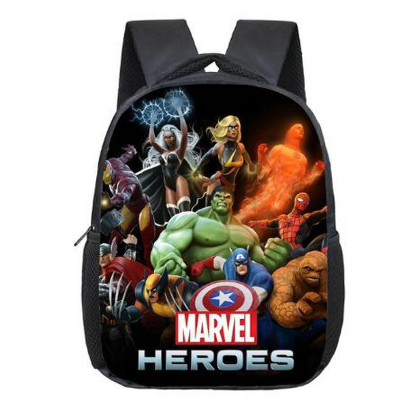 12 Inch Avengers Iron Man Hulk Captain America Kindergarten Backpack Kids School Bags For Boys Daily Backpacks Children Bookbag
