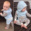2016 ins baby clothing set boys girls long sleeve hoody+ pants 2pcs roupas de bebe fille girl clothes set toddler cloth sets