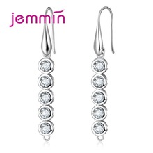 Jemmin Unique Design Long Dangle Earrings Components Findings With Austrian Crystal 925 Sterling Silve DIY Jewelry Accessory