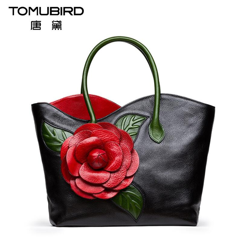 Famous brands of high quality leather handbags National wind Handbags Chinese style dimensional flowers handmade handbag korean style different flowers and plant of 50 chinese embroidery handmade art design book