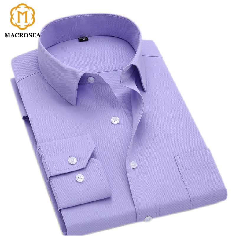Solid Color Formal Business Fashion Striped Shirt