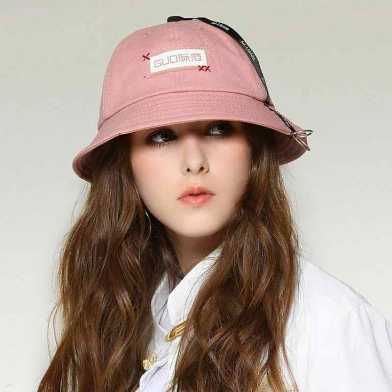 8abcbe0d2cc5b7 ... COKK Women Bucket Hat Hip Hop Fishing Hat Folding Fishermen Cap Summer  Hats For Women Men ...