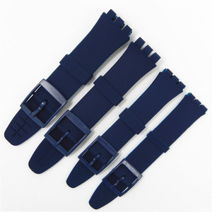 Image 5 - Rubber Silicone Wrist Watch Band Strap for Swatch 16mm 17mm 19mm 20mm Watchband Accessories