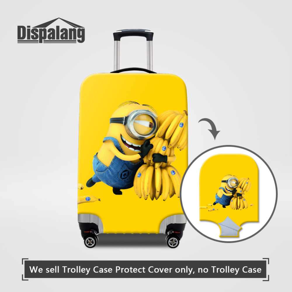 Travel on Road Luggage Cover Cartoon Protective Suitcase Cover Despicable Me Minions Luggage Dust Cover for 18-30 Inch Case 1 1 4 stainless steel electric solenoid valve normally closed 2s series stainless steel water solenoid valve page 6
