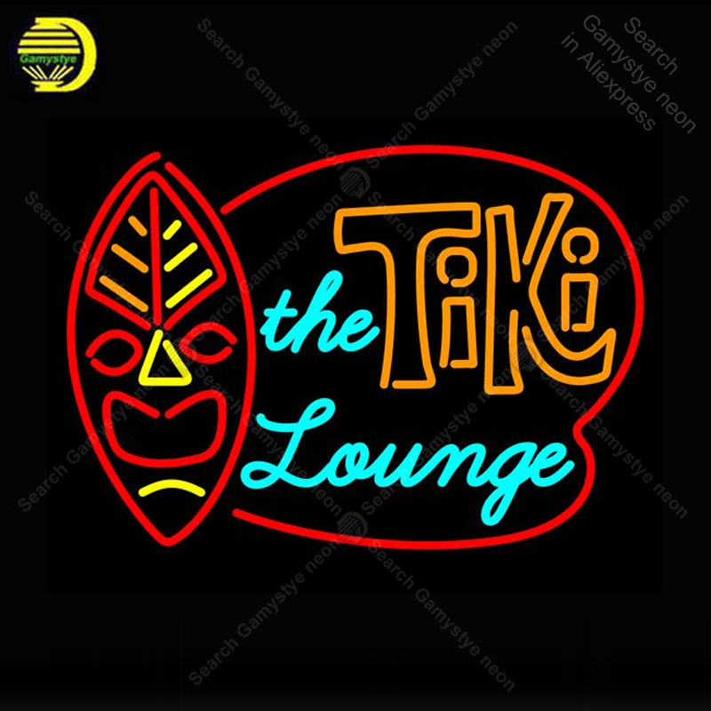 Neon Sign for Tiki Store the lounge Neon Bulb handcraft Beer bar signglass neon signboard Decorate Hotel restaurant advertise image