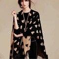 Marca Las Mujeres Chal de Lana 2016 Bufanda de Las Nuevas Mujeres Diseñador Mantones de La Manera Básica femenina