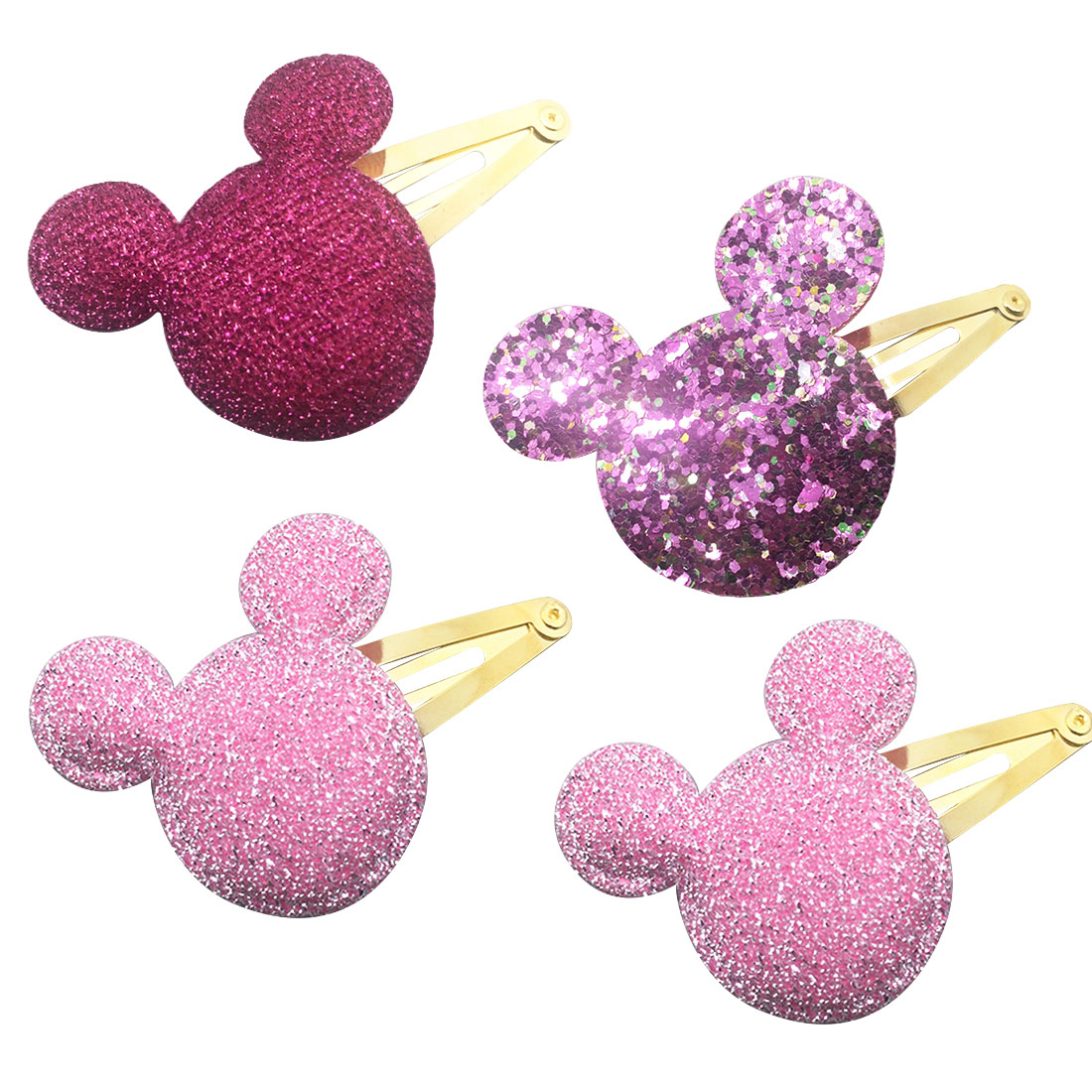 bb Hairpin Sequin Heart Bear Shiny Fabrics And Crown Hair Clip Kids Children Hairpins 1pc Baby Girls Hair Accessories in Hair Accessories from Mother Kids