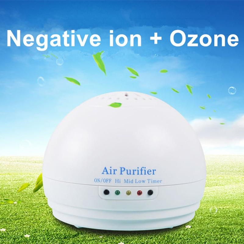 Purificador de ar do carro gerador de ozônio casa gerador de ânion desinfetante ionizador de ar esterilizador de ozônio desinfecção temporizador