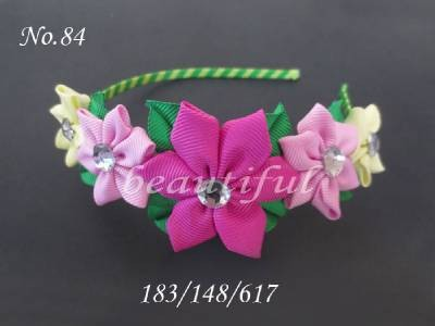 100 BLESSING Good Girl Modern Style Headband Rose Garland Hair Bow 84 No.