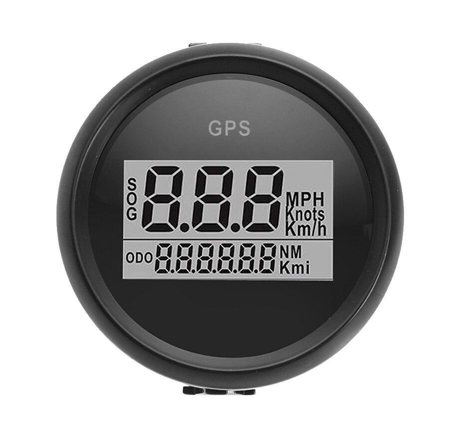 52mm Car GPS Speedometer Waterproof Truck Boat Digital LCD Speed Gauge with GPS Antenna 100% brand new gps speedometer 60knots for auto boat with gps antenna white color