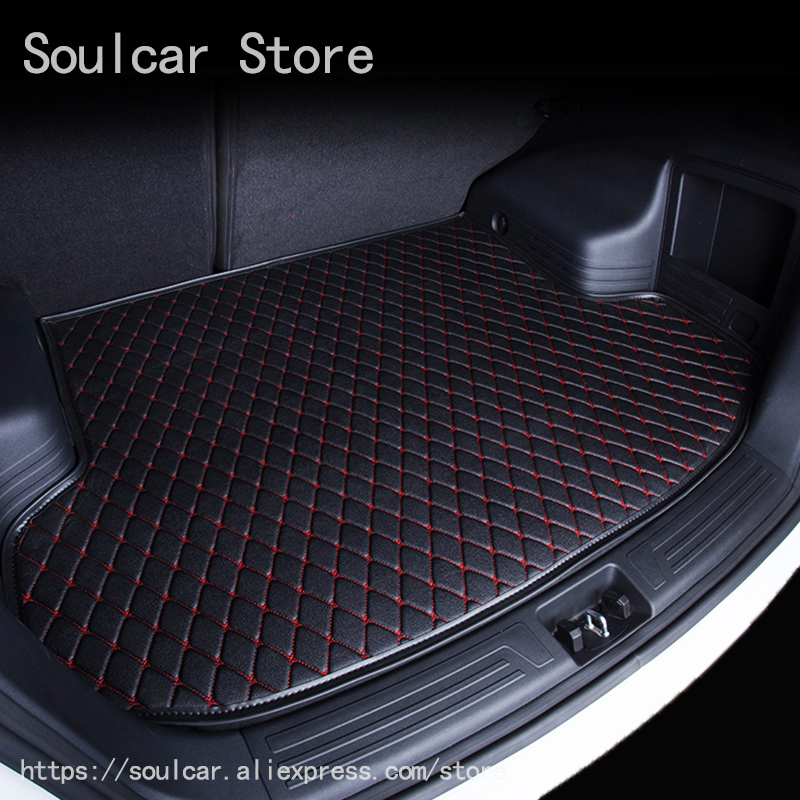 Custom fit car trunk mats for PEUGEOT 207 307 308 408 508 2008 3008 BOOT LINER REAR TRUNK CARGO MAT TRAY CARPET COVER