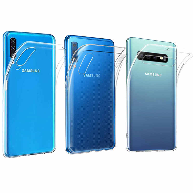 Case For Samsung Galaxy A7 2018 A50 Ultra-thin Transparent TPU Silicone For Samsung A50 A20 A40 A30 A70 A80 S10 Plus S10E Case